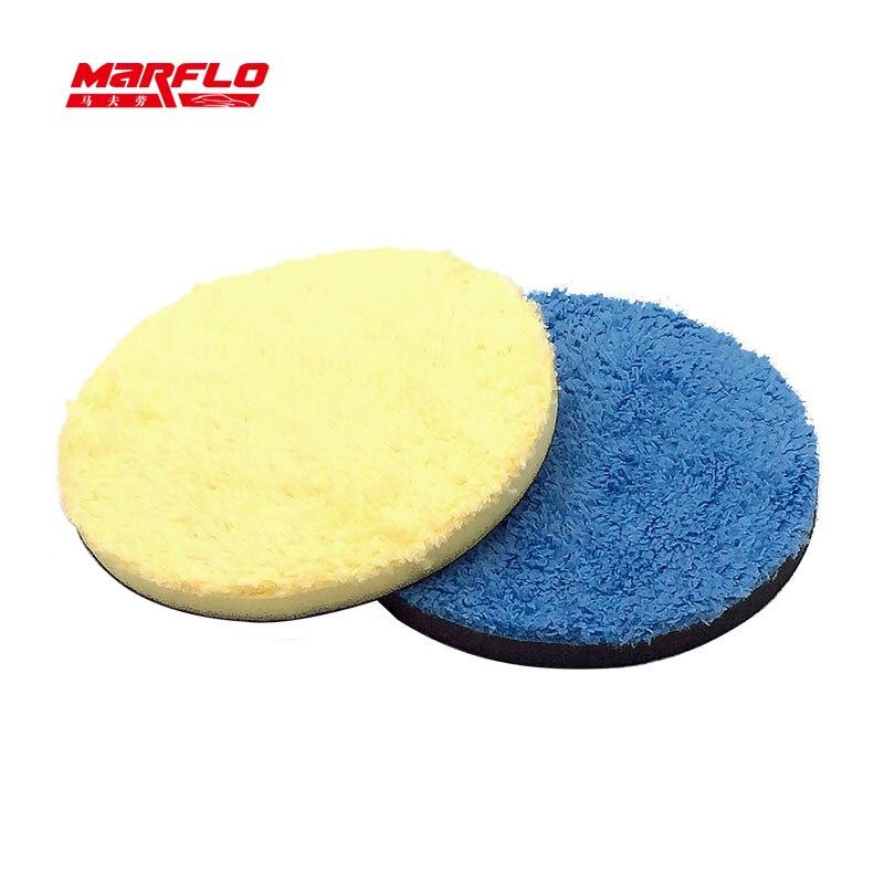 """Marflo pintura cuidados com o carro 6 """"microfibra buff esponja almofada de polimento cera para giratório e da polidor"""