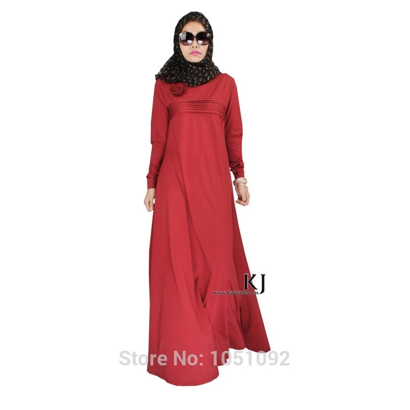 Enthusiastic Bonnet Hijab Robe Femme Musulman Kaftan Plus Size 95% Cotton+5% Lycra Fabric Arabic Women Clothes Dresses Muslim Women 20150208 Islamic Clothing Traditional & Cultural Wear