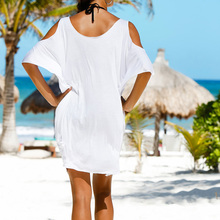 Women Off Shoulder Beach Casual Dress