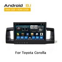 2 Din 10.1 Inch Head Unit Multimedia For Toyota Corolla EX 2001 2002 2003 2004 2005 2006 Android Auto Radio Stereo No DVD Player