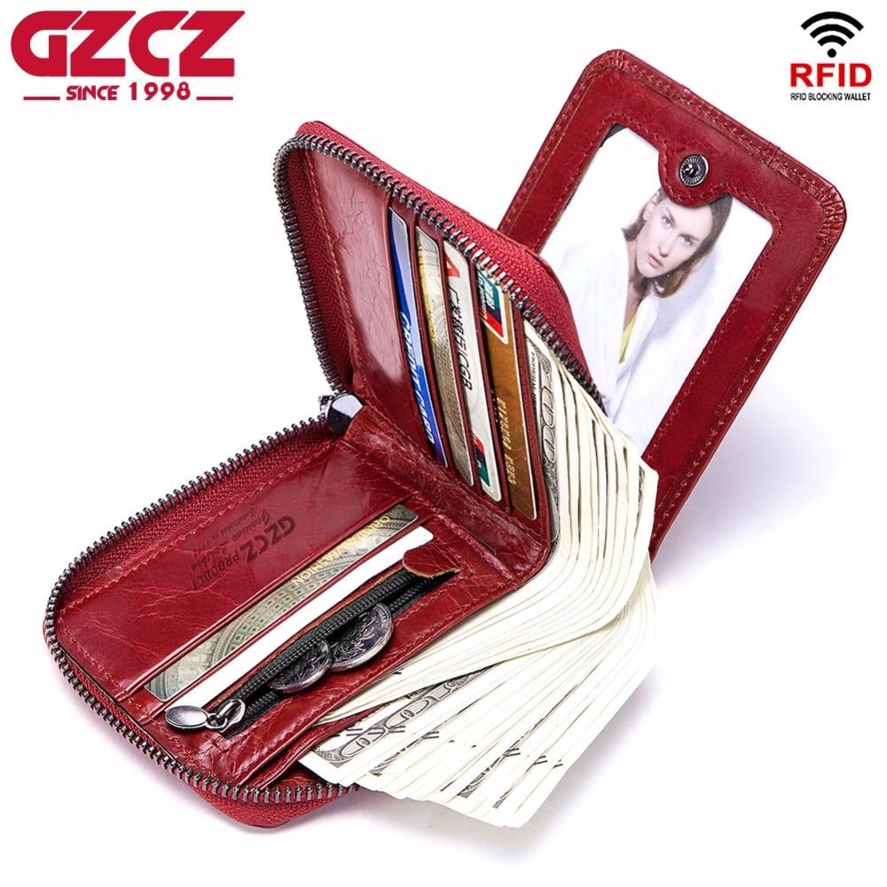 GZCZ Fashion Wallet Women Genuine Leather Luxury Brand Clutch Bag Kashelek Female Portafoglio Donna Ladies Wallets Coin Purse