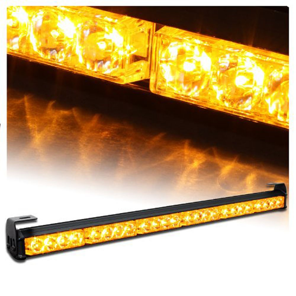 904-6 7Modes 4 LED 27 12C Car External Lights Emergency Warning Lights Tow Traffic Advisor Flash Strobe Light Bar