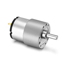 цена на UXCELL DC 24V 45RPM 6mm Diameter Shaft Electric Geared Box Speed Reduction Motor Silver Tone Hot Sale