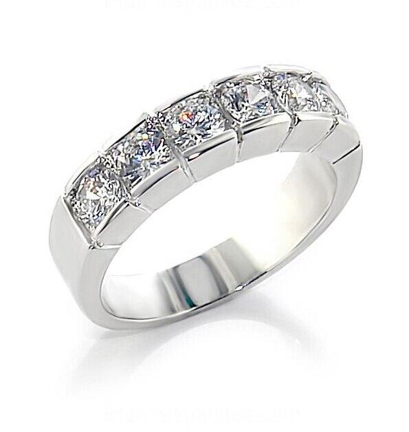 Bague de fiançailles 925 en argent Sterling Sona simulé Diamant pour femmes, bague de mariage promise S925 (BB)