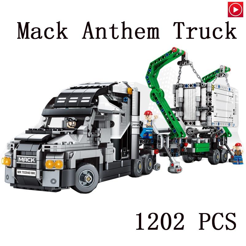 Legoed Technic city The Mack Truck model kits Building Blocks compatible 42078 classic car-styling education toys for childrenLegoed Technic city The Mack Truck model kits Building Blocks compatible 42078 classic car-styling education toys for children