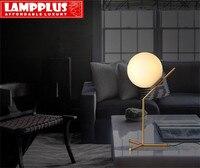 Lampplus Nordic Минималистский матовое Стеклянный Шар Абажур штатив настольная лампа для спальни исследования гостиная гостиничном номере