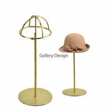 5 шт. Титана Золото Польский Регулируемая Высота Шляпа Стенд Металла Hat Cap Стеллаж Держатель hat держатель стойки