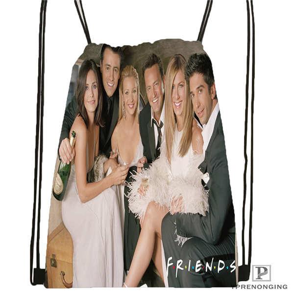 Custom Friends-cast Drawstring Backpack Bag Cute Daypack Kids Satchel (Black Back) 31x40cm#2018611-29