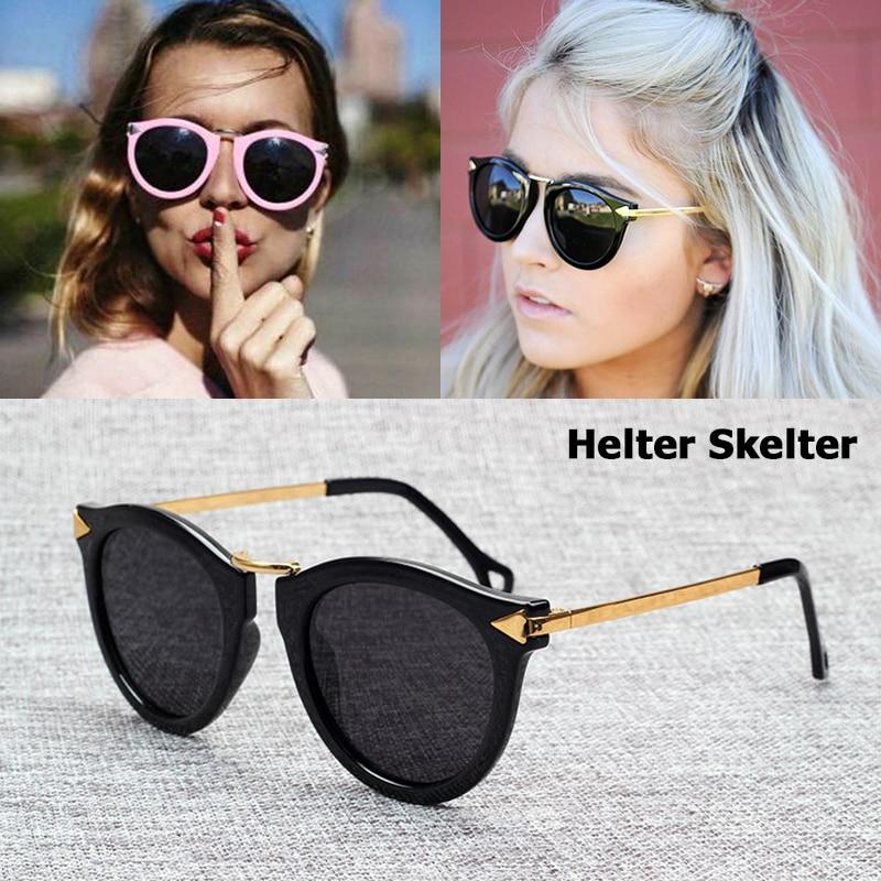 JackJad Fashion POLARIZED Helter Skelter Arrowed Sunglasses Women Brand Design Vintage Round Sun Glasses Oculos De Sol Feminino