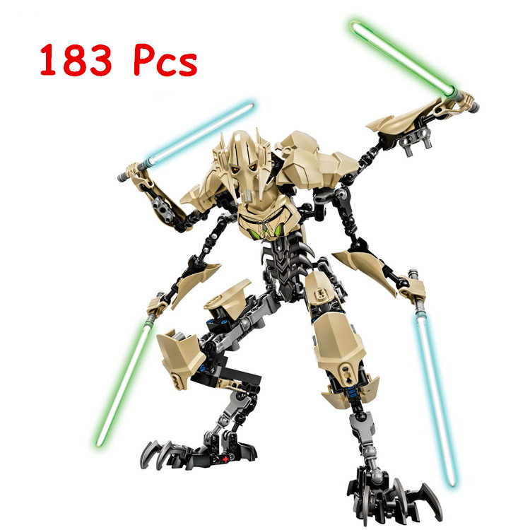 NEW KSZ Star Wars 7 General Grievous with Lightsaber Storm Trooper w/gun Figure toys building blocks set compatible with legoe costume party star wars light saber blue and red starwar telescopic lightsaber cosplay 33 7 interactive sword model kids toys