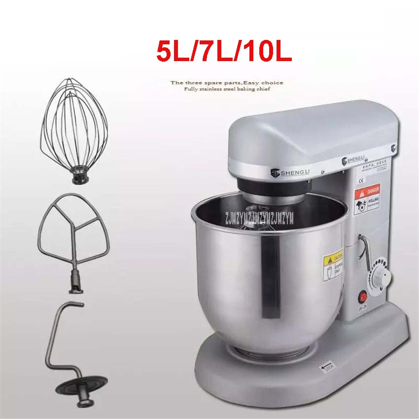 5.7, 10 Litros Carrinho Elétrico Robô de Cozinha, SL-B10 Cozinhar Misturador Planetário, Batedor de Ovos, amassar Usando O Uso Doméstico e Comercial