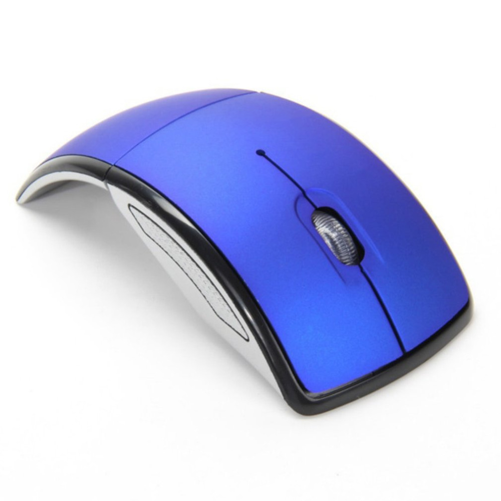 Blue Ergonomic Wireless Gaming Mouse With USB Nano Receiver For PC Laptop