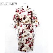 New Print Floral Women Wedding Bridal Kimono Robe Sexy Rayon Spa Night Dress Bridesmaids Dressing Gown Bathrobe Nighgown