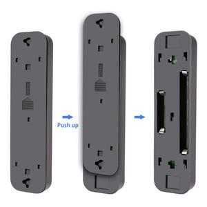 Image 3 - 5 diodo emissor de luz da noite sob armário armário cozinha empurrar toque torneira luz da noite lâmpada vara na energia da bateria