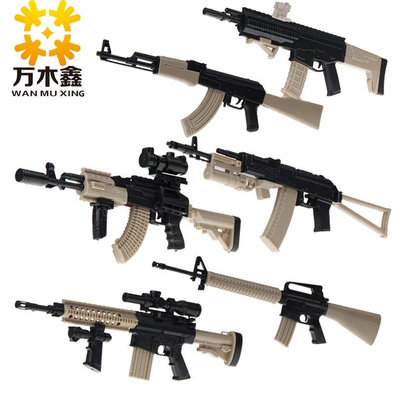 6PCS Kids 1/6 Assault Rifle Assemble Assault Rifle Simulation Gun Model Military Series The Famous World Top Gun A001 ld7530pl ld7530 sot23 6