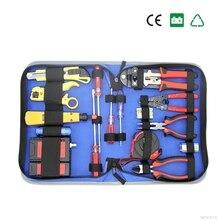 Сети Комбинации кабель Провода тестер обжима Cutter Удар Подпушка Инструменты комплект RJ11 RJ45 компьютерной сети инструмент Ремкомплект Провода полосы