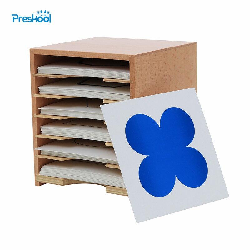 Bébé Jouet Montessori Six Couche Cartes Cabinet avec Cartes 15.8 cm * 17.5 cm * 15 cm de La Petite Enfance Préscolaire enfants Brinquedos Juguetes
