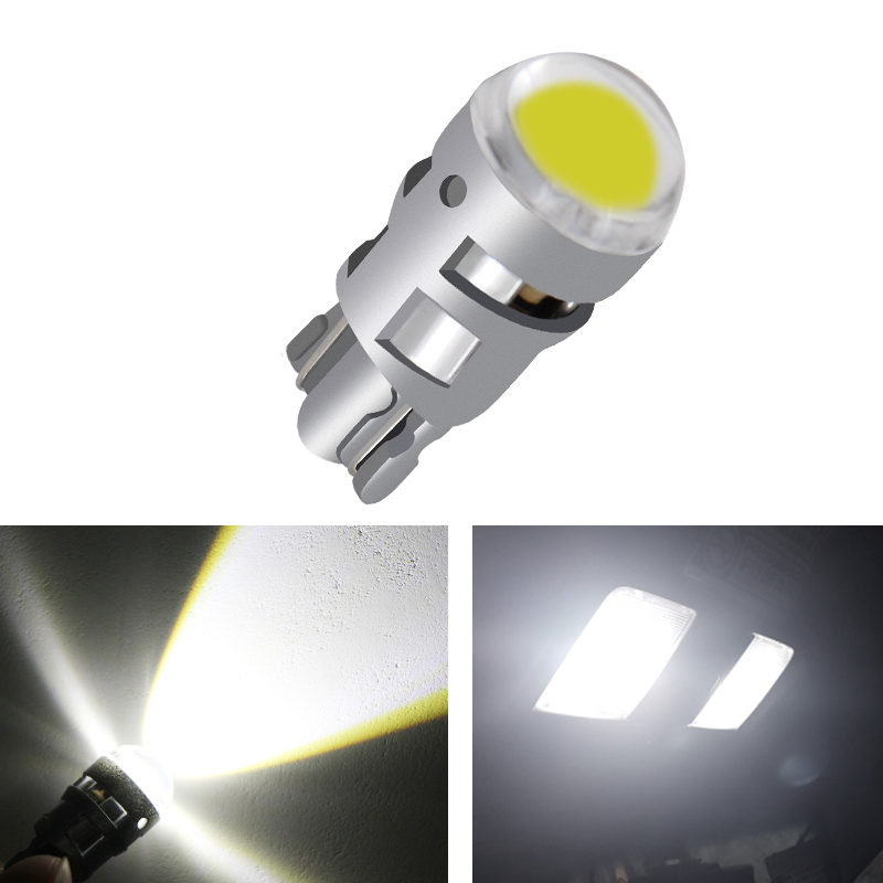 1x T10 Led Bulb W5w Car DRL 194 168 Clearance Lights Reading Interior Replacement License Plate Lamp 12V 6000k White Car Styling