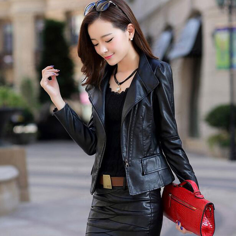 Compare Prices on Brown Faux Leather Jacket Women- Online Shopping ...