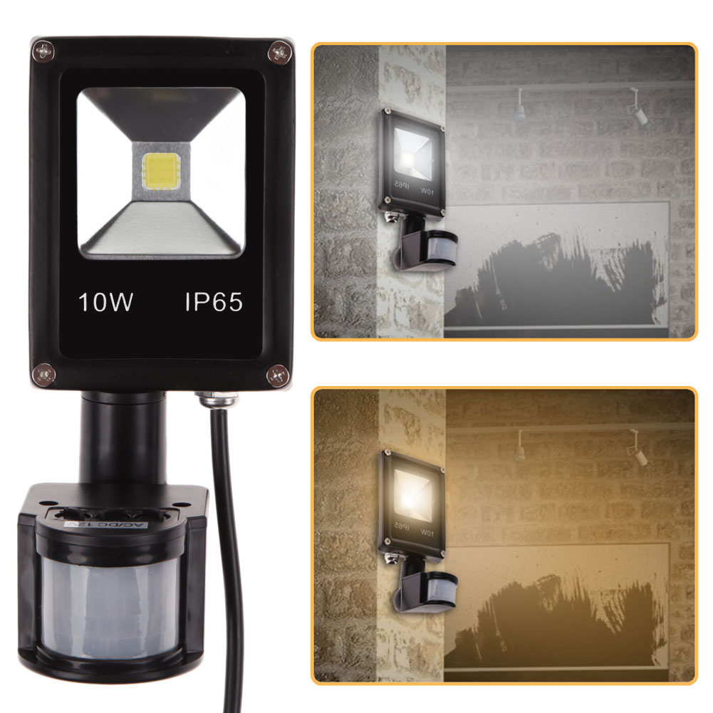 Perfect 10W PIR Motion Sensor Light AC/ DC 12V LED Outdoor Lighting Flood Light (China