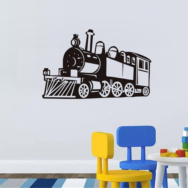 Small Steam Train Wall Decals Kids Fashion Train Wallpaper Adhesive  Removable Art Stickers