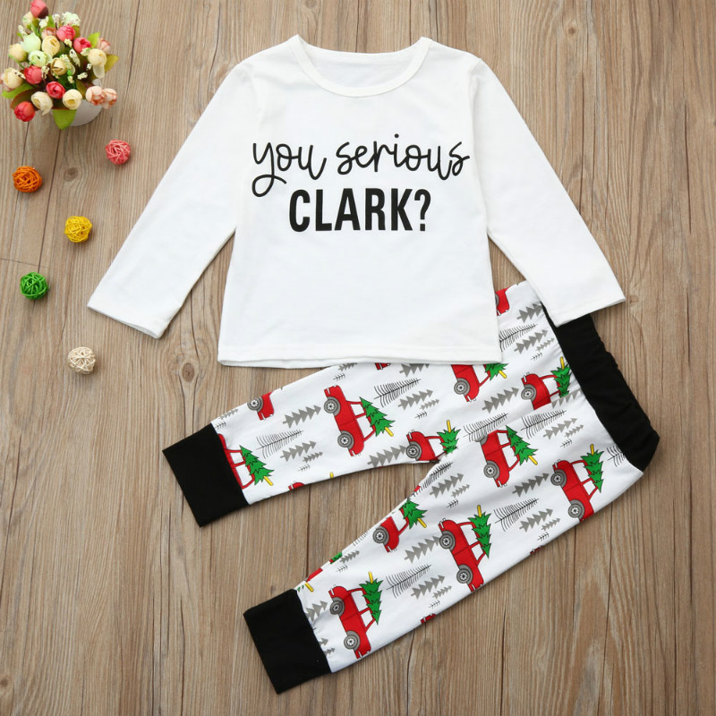 New Year Family Christmas Pajamas Family Matching Outfit Clothing Sets Family Pyjamas Kids Clothes Set Family Look ClothingCC500