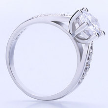 Engagement Silver Rings 2 Row Crystal Wedding Bands for Women Fashion AAA+ Cubic Zirconia Jewelry 2019 New Arrivals