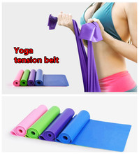 Free Shipping 150cm Yoga resistance bands Pilates Stretch Resistance Band Exercise Fitness Training#2063 B1
