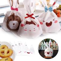 50Pcs Easter Rabbit Shape Gift Candy Biscuits Bag Present For Kids Home Levert