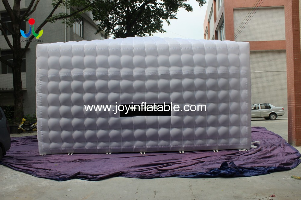 8LX8WX4HM 210D Oxford Giant Inflatable Cube Tent in White and Black Color - 4