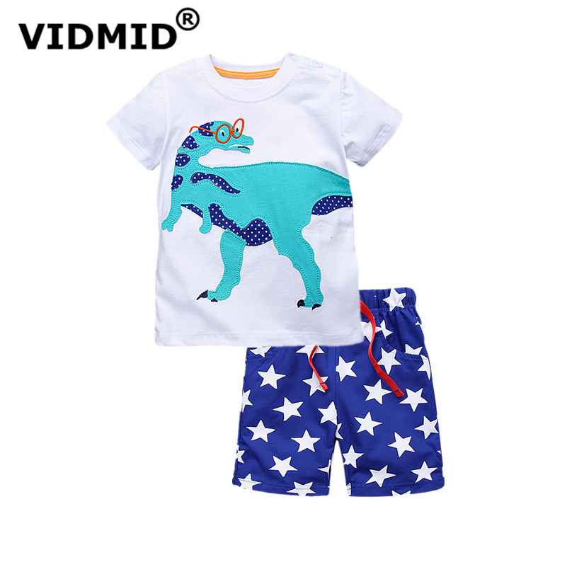 VIDMID new summer printed short-sleeved baby boys clothing sets for boy printed sets infant set toddle clothes kids boys sets