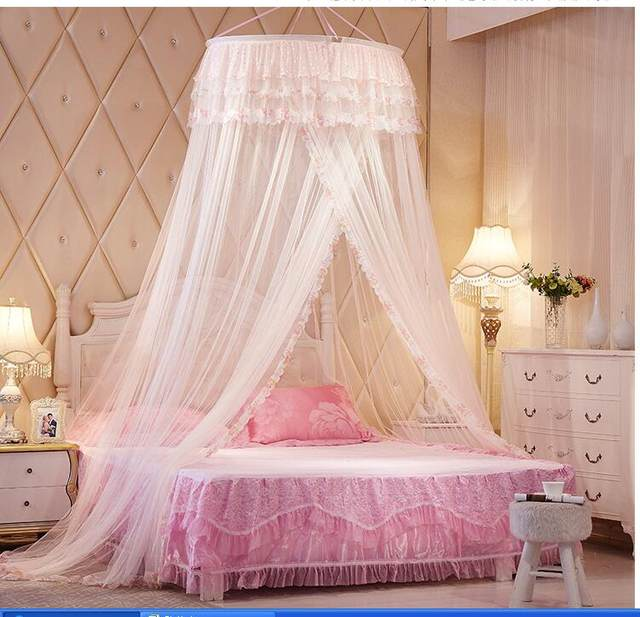 Round princess royal ceiling net baldachin dekoration mosquito net Round Lace Insect Bed Canopy Net bed canopy moustiquaire lit & Online Shop Round princess royal ceiling net baldachin dekoration ...