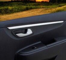 4pc for KIA K2 2017 KX CROSS 2017 Car door panel Bright Trim Decorative stainless steel