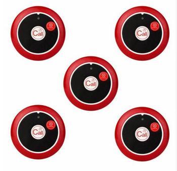 5 pcs 433 MHz Botão de Chamada Garçom Sistema de Chamada Sem Fio Restaurante Pager Pager Two-chave De Equipamentos Restaurante