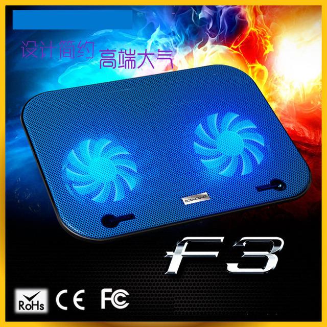 """Notebook Laptop Cooling Pad com Fãs Dual Display de Temperatura LCD Laptop Cooler para até 15.6 """"Laptop Cooling Pads"""