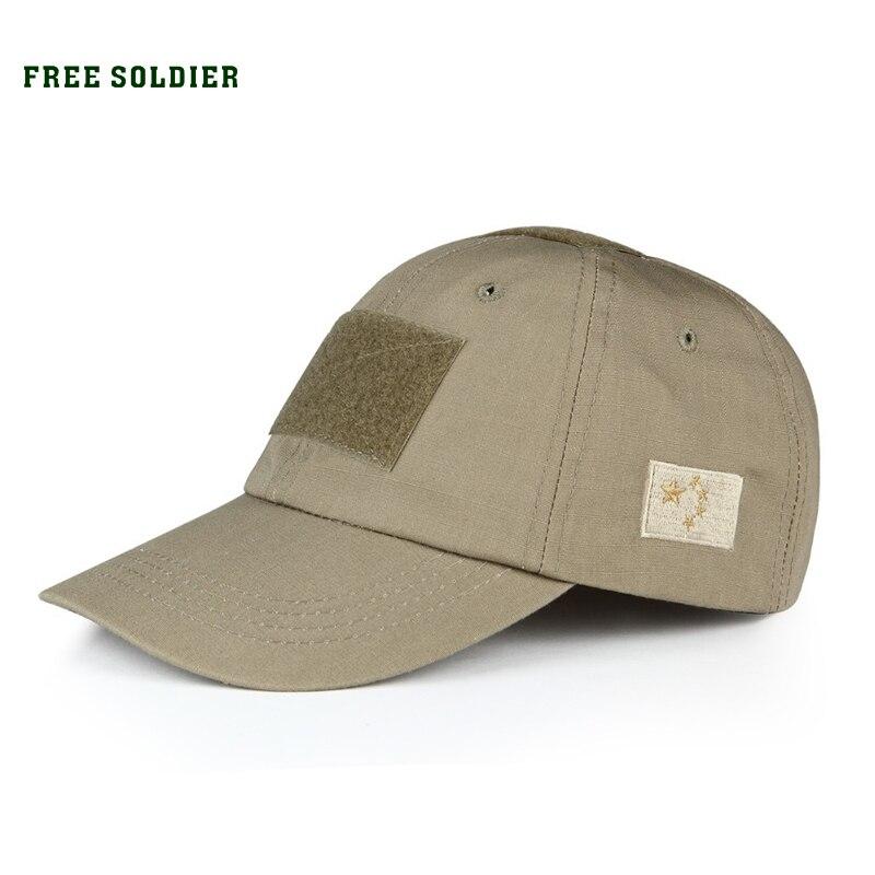 Prix pour FREE SOLDIER extérieure d'été style tactique cap résistant aux Rayures chapeau Militaire amateurs chapeau de soleil sport cap hommes de cap femmes cap