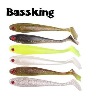 Image 1 - Bassking 2019新ソフト餌8個90ミリメートル6.1グラム3D目シリコーンソフトルアーt テール人工ルアーワブラー鯉