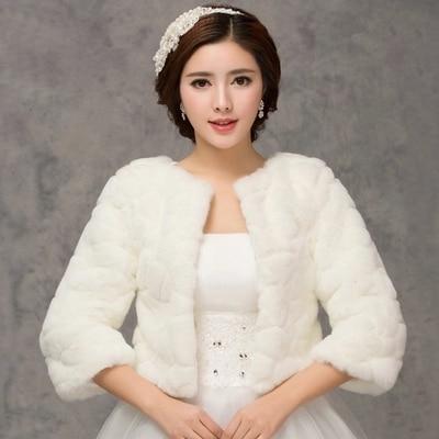 2018 Winter Braut Pelz Wraps Hochzeit Bolero Jacke Gunstige Braut