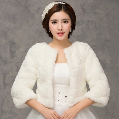 2018 Winter Bridal Fur Wraps Wedding Bolero Jacket Cheap Bridal ...