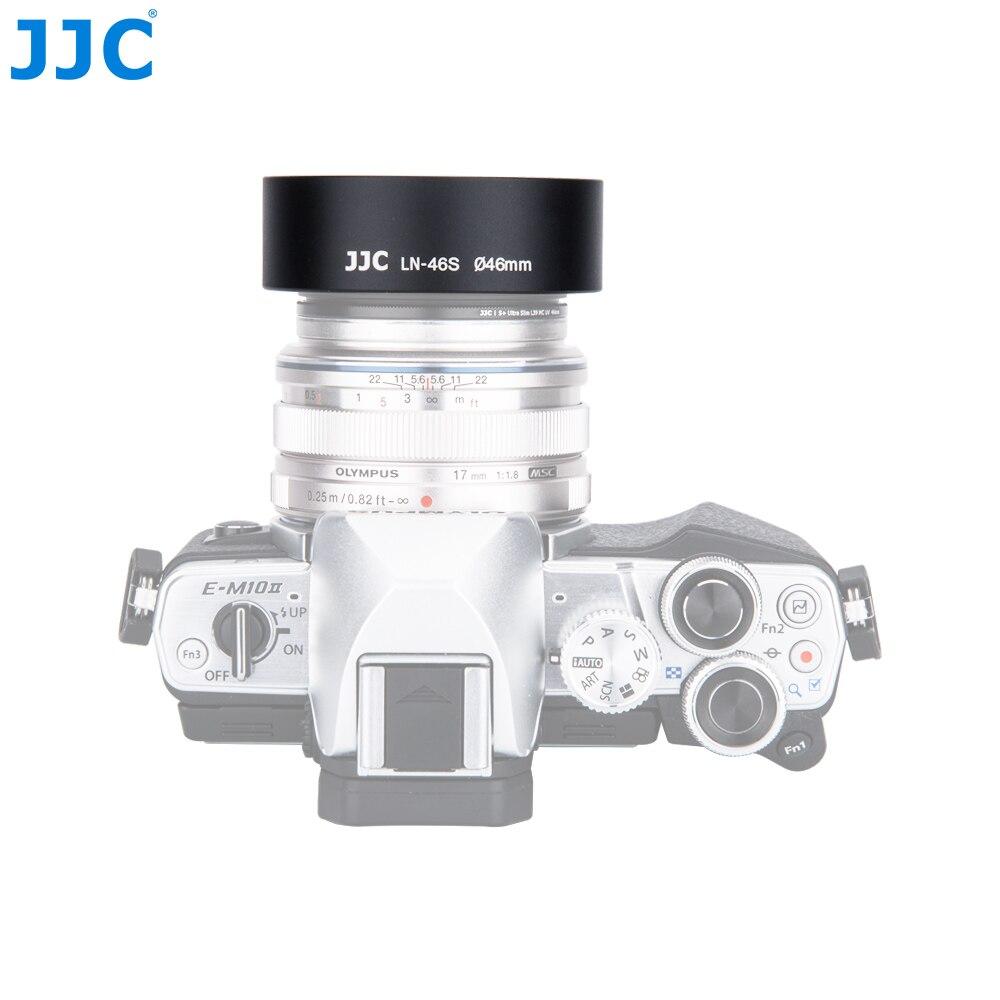 JJC Universal Métal Vis Standard Lens Hood 46mm pour OLYMPUS X-H1/X-A5/STYLO F M. ZUIKO NUMÉRIQUE 25 MM 1:1. 8/17 MM 1:1. 8/12 MM 1:2. 0