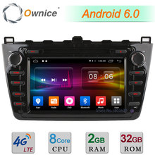 8″ Octa Core 2GB RAM 32GB ROM 4G WIFI Android 6.0 DAB AUX Car DVD Player Radio For Mazda 6 Ruiyi Ultra 2008-2012 GPS Navigation