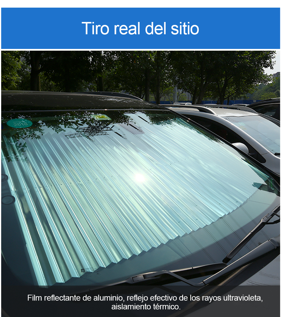 Parasol plegable para parabrisas de coche para mantener tu veh/ículo fresco dise/ño de bandera de Espa/ña Oarencol 55 x 27.6