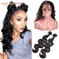 360 Lace Frontal With Bundle 7A Peruvian Body Wave 360 Frontal With Bundles Top 360 Lace Frontal Closure With Bundles Human Hair