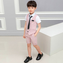 2019 summer children's clothing boy costumes suit children boys clothes Cotton children clothes  Short  kids clothing ALI 292 недорого