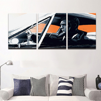 Modern Canvas Painting HD Printed Wall Art 3 Panel Pictures Black White Drive Abstract Characters Poster