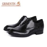 GRIMENTIN dress shoes men brand lace up black brown men male shoes fashion designer business shoes for 2019 newest