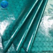 LIULANZHI green brocade fabric african bazin riche getzner nigerian batik free shipping 5 yards/lot online sales ML6B98