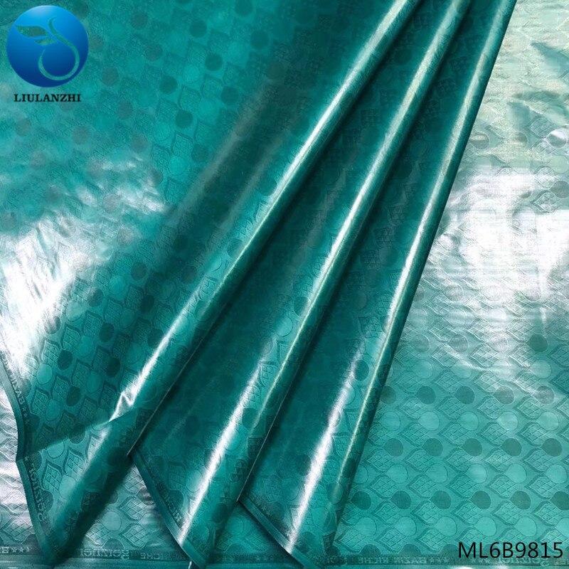 LIULANZHI vert brocart tissu africain bazin riche getzner tissu nigérian batik livraison gratuite 5 yards/lot vente en ligne ML6B98