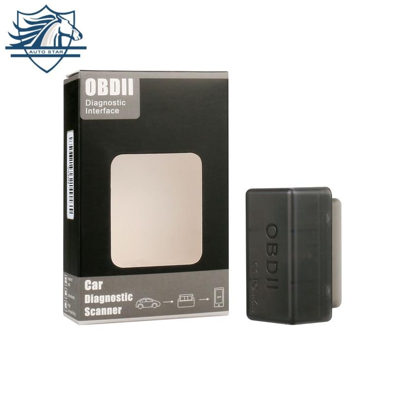 Super Bluetooth MINI ELM327 En Gros Dernières Nouvelle ELM 327 V1.5 OBD2/OBDII Noir Voiture Code Scanner Outil LIVRAISON GRATUITE