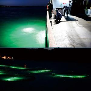 Image 5 - 30W Fish Attractor Lamp IP68 Waterproof Underwater Light Sea Night Fishing LED Lure Lighting DC12V